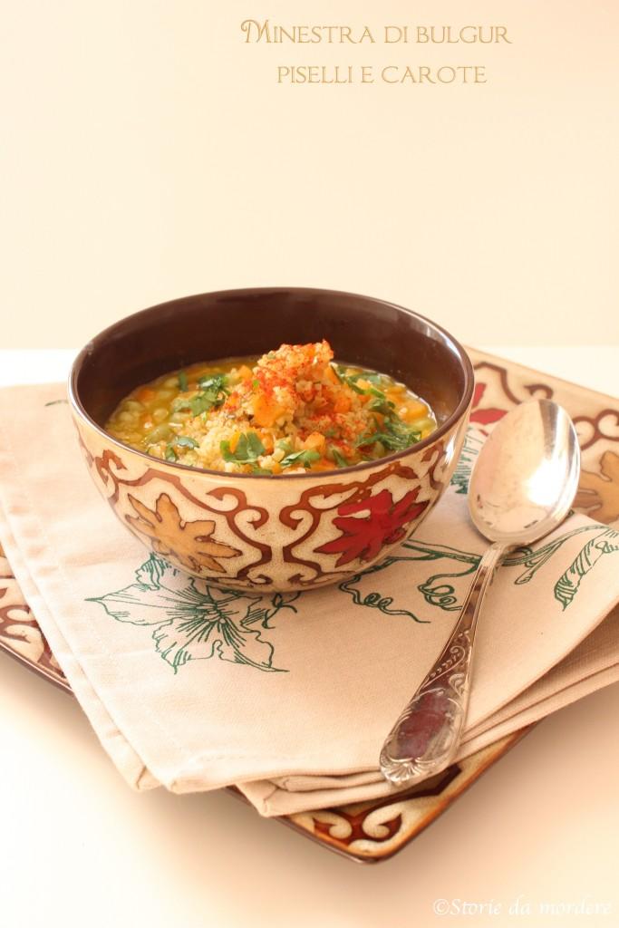 minestra bulgur piselli carote 1