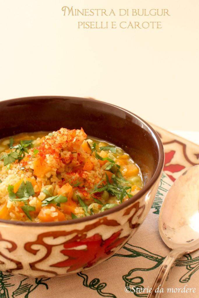 zuppa bulgur piselli carote
