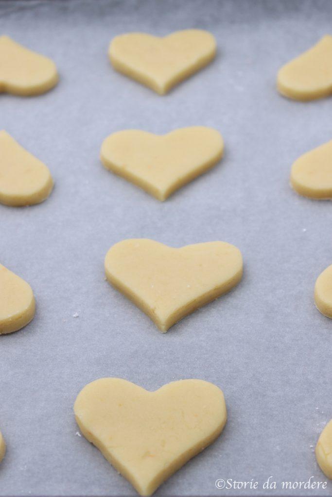 biscotti cuori di frolla