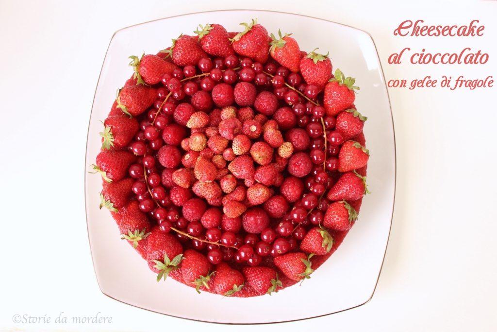 cheesecake cioccolato fragole 1