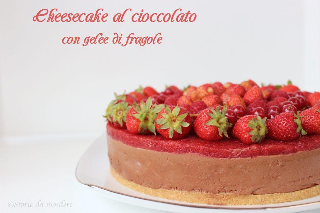 cheesecake cioccolato fragole 2