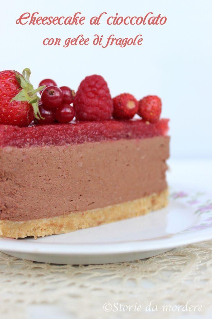 cheesecake cioccolato fragole 3