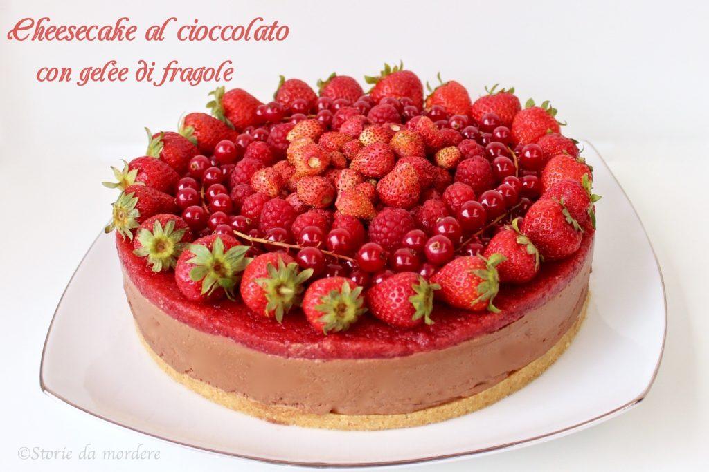 cheesecake cioccolato fragole 4