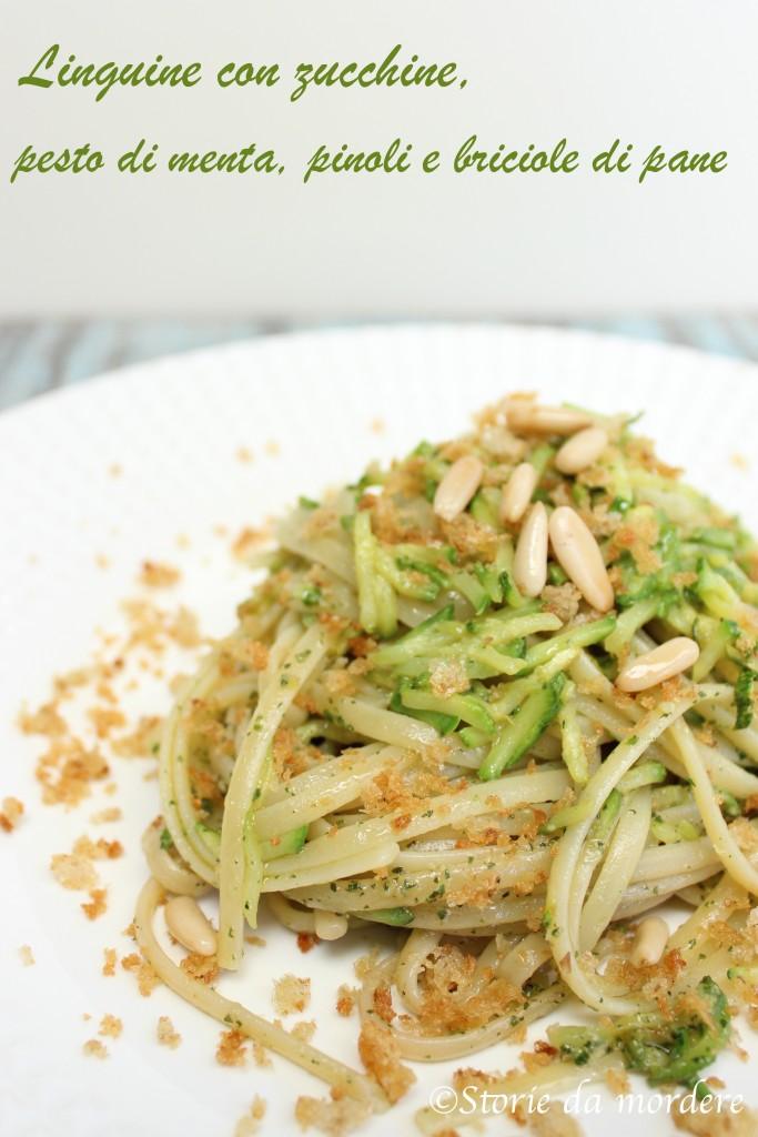 linguine zucchine pesto menta 2