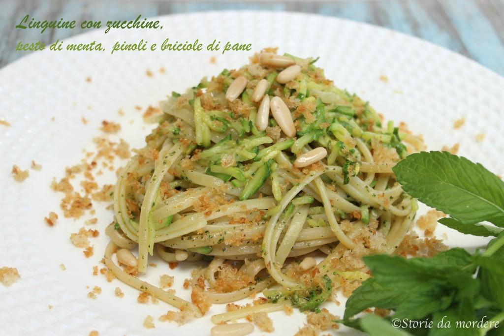 linguine zucchine pesto menta1