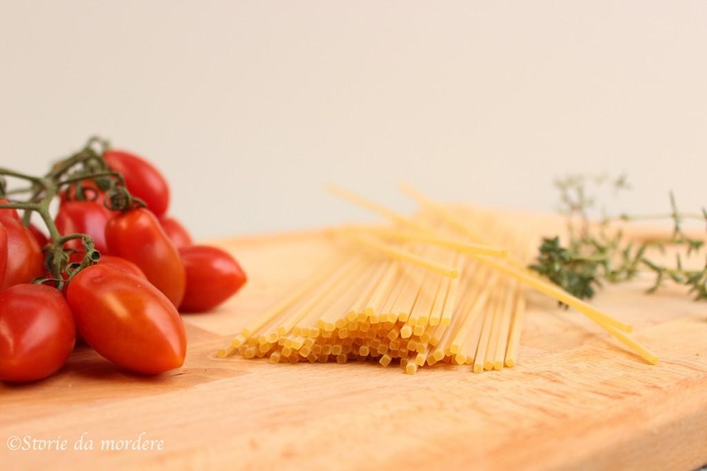 pomodorini spaghetti chiatarra timo