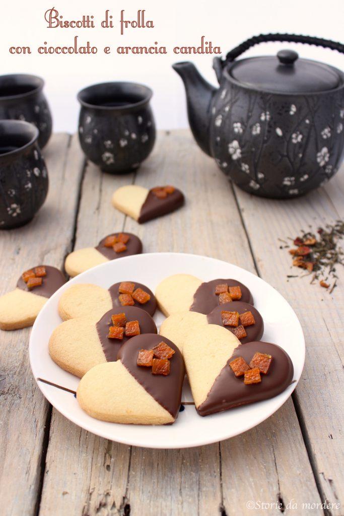 biscotti di frolla cioccolato arancia candita