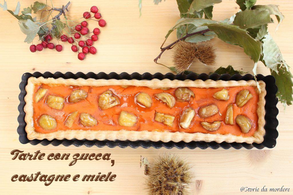tarte con zucca castagne e miele